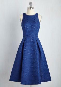 Mesmerizing Moves Dress. Enveloped in this indigo dress, your partner swings you around the dancefloor. #blue #wedding #modcloth