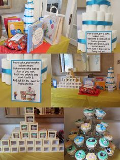 Nursery rhyme theme baby shower!  Like the sign for the cake or cupcakes