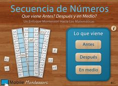 Practice number sequencing in Spanish with this iPad app by Mobile Montessori!