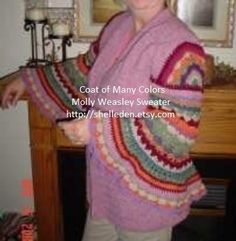 PDF Coat of Many Colors (Molly Weasley) Crochet Pattern ALL CROCHET pattern is for the complete sweater