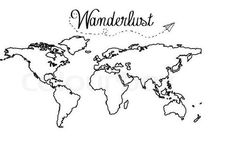 I was thinking of getting this on my forearm or somewhere that i world map tattoo travel i8 gumiabroncs Choice Image