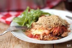 Een verrukkelijke vislasagne met zeevruchten en gegrilde groenten. Wil je deze lasagne of een ander heerlijk gerecht maken? Kijk op BonApetit!