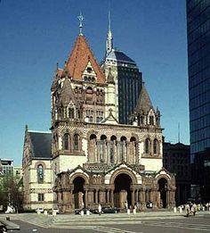 Trinity Church, the Boston landmark as designed by Henry Hobson Richardson. One of my favorite spots in Boston.