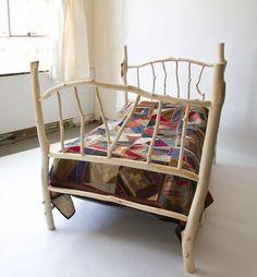 Whimsical Log Bed. $1,500.00, via Etsy.