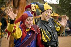 Elijah and Sam Tynker of Santa Fe, New Mexico perform with their family as the Clan Tynker Family Circus at the Arizona Renaissance Festival on March 7, 2010.