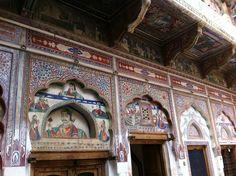 Fresco detail, Shekhawati region, Rajasthan, India.