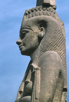 Statue of Meret Amon in Akhmim near Sohag Egypt. This statue is orginial belived to be one of Ankhesenamun during her marrige with Tutankhamun. Later surpused by Ramesses III