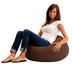 Bean Bag Chair Classic Espresso Brown Comfort Dorm Cozy Seat Love Room Suede #ClassicEspresso
