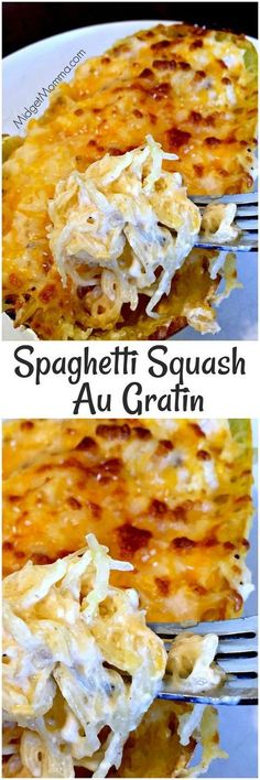 The Most Popular: Spaghetti Squash Au Gratin. Easy to make meal that is filled with veggies. Spaghetti Squash Au Gratin is the perfect meal for anytime! Weight Watcher Desserts, Paleo Recipes, Low Carb Recipes, Cooking Recipes, Bariatric Recipes, Cooking Food, Easy Recipes, Low Carb Spaghetti Squash Recipe, Baked Spaghetti Squash
