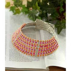 Beaded Choker Necklace  One Size