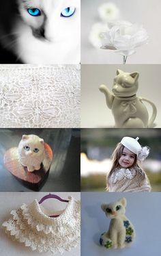 White.Cat. by Jelena Karpjuka on Etsy--Pinned with TreasuryPin.com