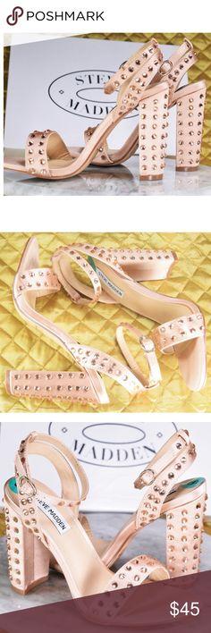 NEW Steve Madden Maeryn Blush Pink Heels Sz 8M NWT