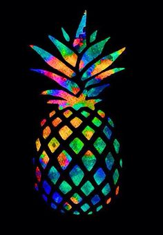 Wallpaper for iPhone of an colorful pineapple!