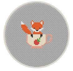 Fox Cross stitch pattern Mini cross stitch door MagicCrossStitch