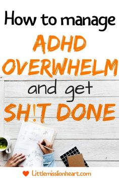ADHD and anxiety make it hard to be get things done. Here's how to stop feeling overwhelmed and be more productive! #ADHD #ADHDwomen #adhdproblems #ADHDstrategies #executivefunction #productivity #beproductive Adhd Odd, Adhd And Autism, Adhd Facts, Adhd Help, Adhd Brain, Adhd Strategies, Adult Adhd, Self Improvement Tips, Good Parenting