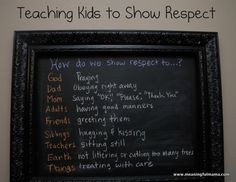 How do we Show Respect to...? An Activity in Teach Respect - Meaningfulmama.com
