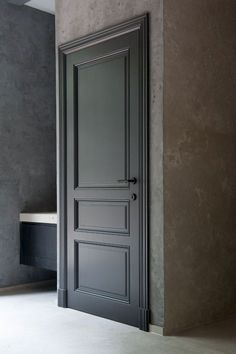 When you need a truly dramatic, dramatic look, nothing is more dramatic than the use of black interior doors. Black doors give you the kind of feel that . Interior Door Styles, Black Interior Doors, Door Design Interior, Black Doors, Panel Doors, Windows And Doors, Front Doors, Screen Doors, Classic Doors