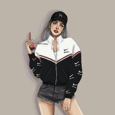 Aqui disfutando🙂🙂🙂😚😍😜 Fashion Model Drawing, Fashion Sketches, Cute Girls, Cool Girl, Sarra Art, Girly M, Gangster Girl, Cute Girl Drawing, Girly Drawings