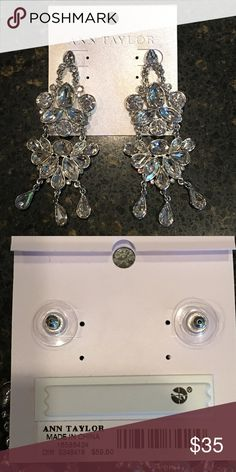 "🆕Ann Taylor Crystal Chandelier Earrings Brand new with tags Ann Taylor crystal chandelier earrings; approximately 2.75"" long. Never worn! Jewelry"