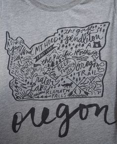 Oregon Womens Tee Graphic Tee Holiday Gift by luckyfolkgoods