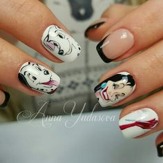 Anna Yudasova cute nails