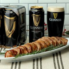 Turn your holiday parties up a notch with this Guinness-glazed, bacon-wrapped tenderloin!