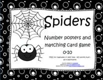Spiders theme activities and printables for Preschool, Pre-K and Kindergarten - KidSparkz