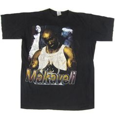 Vintage Tupac Shakur 2Pac Makaveli Toss It Up T-Shirt