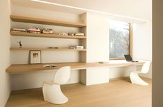 Working area by Belgian architects Minus.