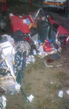 1982 German GP (at Hockenheim) - Didier Pironi survived this crash in a Ferrari with badly broken legs in what was to be his last race. Sadly he died in a unlucky flip during a speed boat race across the British Channel five years later Grand Prix, F1 Crash, Grand Canyon Railway, Jochen Rindt, Gilles Villeneuve, Broken Leg, F1 Racing, Car And Driver, Vintage Racing