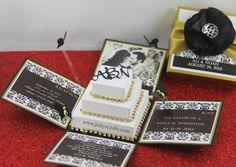 Couture wedding invitations  black and white box wedding invitations ...