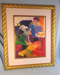 Original Large Framed Abstract Serigraph Art By Hessam Abrishami #Abstract