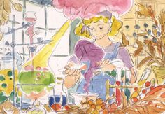 Enjoy a collection of Concept Art from Studio Ghibli Kiki's Delivery Service, featuring Character, Layout, Prop & Background Design. Character Design, Studio Ghibli Art, Animated Characters, Animation, Daily Art, Japanese Animation, Art, Movie Art