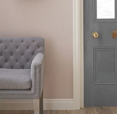 I love using light grey to create a peaceful, calming setting and then use dusty pink as an accent colour to complement and lift the grey.