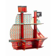 Pirate ship shelf by Little Big Room