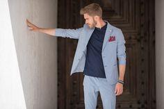 #blazek #summersuit #stretch #cotton Summer Suits, Lisbon, Slim, Journal, Blazer, Cotton, Jackets, Travel, Men