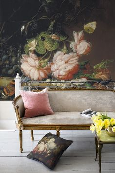 'Still Life with Flowers' Mural - Ashmolean Museum Collection | Shop Cushions & bespoke Wall Murals at surfaceview.co.uk