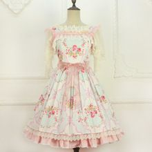 Sweet Custom Tailored Rococo Lolita JSK Dress Vintage Floral Printed Lolita Dress by Miss Point(China (Mainland))