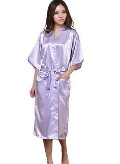 424022ce23d1 Plus Size S-XXL 2016 Rayon Longue Bathrobe Womens Kimono Satin Long Robe Sexy  Lingerie Hot Nightgown Sleepwear with Belt