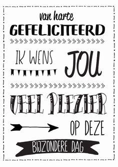 Zwart-wit verjaardagskaart, verkrijgbaar bij #kaartje2go voor € 1,89 Birthday Wishes, Happy Birthday, Love Doodles, Birthday Decorations, My Love, Prints, Cards, Happy Brithday, Anniversary Decorations