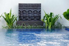 Buddha Water Feature Balinese Garden, Garden Accessories, Water Features, Buddha, Landscape, Outdoor Decor, Home Decor, Water Sources, Decoration Home