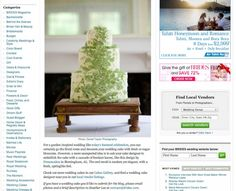 DTP publishedoin Brides.com. The Dreamcakes Bakery creation was featured as Brides.com's cake of the day. Photo taken by Daniel Taylor Photography.