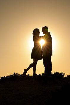 Silhouette couple on the beach. San Diego Wedding Photographer | Tori Rose Photography | San Diego