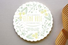 Flower Wreath Birthday Children's Birthday Party Invitations by Very Special Devices at minted.com