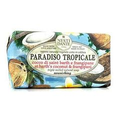 Paradiso Tropicale Triple Milled Natural Soap - St. Barths Coconut & Frangipani - 250g-8.8oz