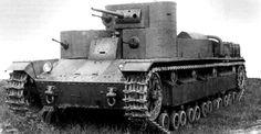 T-28 prototype - Soviet multi-turret medium tank. Prototype was armed in 37 mm B-3 gun