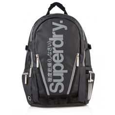 Shop Superdry Mens Tarp Pop Zip Backpack in Black reflective. Buy now with  free delivery from the Official Superdry Store. 1ea649c0aae