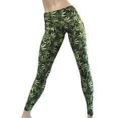 Marijuana Leaf Cannabis Hot Yoga Pant Low Rise Legging