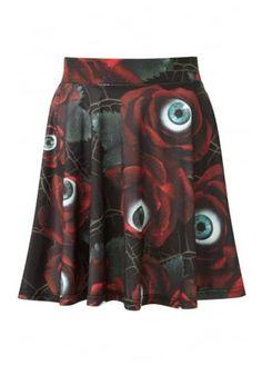 Killstar C U In Paradise Skater Skirt, £32.99