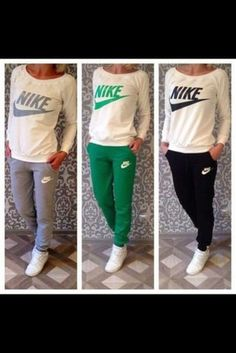 Shop from the best fashion sites and get inspiration from the latest nike. Fashion discovery and shopping in one place at Wheretoget. Sporty Outfits, Nike Outfits, Fashion Outfits, Jogging Suits, Track Suits, Fashion Sites, Clothing Sets, Outfit Sets, Casual Wear